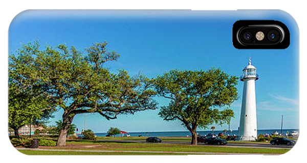 Grand Old Lighthouse Biloxi Ms Collage A1e IPhone Case