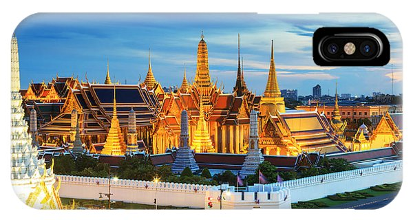 Spirituality iPhone Case - Grand Palace And Wat Phra Keaw At by Southerntraveler