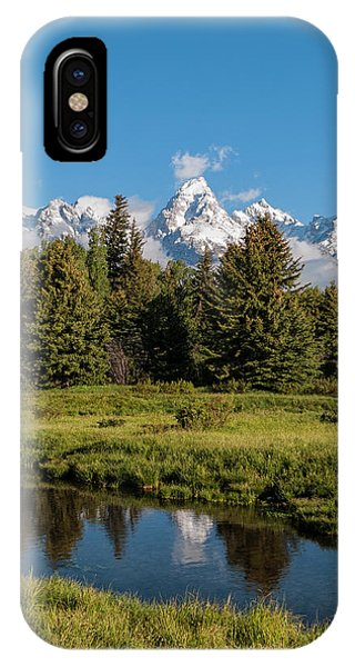 Rocky Mountain Np iPhone Case - Grand Teton Reflection - Grand Teton National Park Wyoming by Brian Harig