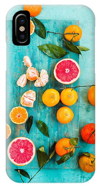 Grapefruit iPhone Case - Grapefruit, Mandarin, Clementine Sliced by Casanisa