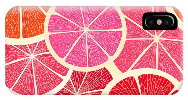 Grapefruit iPhone Case - Grapefruit Seamless Background by Tovovan