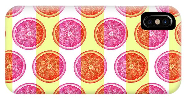 Grapefruit iPhone Case - Grapefruit Slice Pattern 1 - Tropical Pattern - Tropical Print - Lemon - Orange - Fruit - Tangerine by Studio Grafiikka