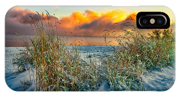Grass And Snow Sunrise IPhone Case
