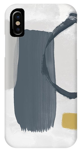 Mustard iPhone Case - Grayscale 2- Abstract Art By Linda Woods by Linda Woods