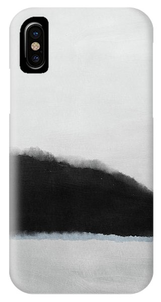 Gray iPhone Case - Grayscale 5- Abstract Art By Linda Woods by Linda Woods