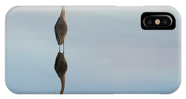 iPhone Case - Great Blue Heron Reflected Beauty by Bob Christopher
