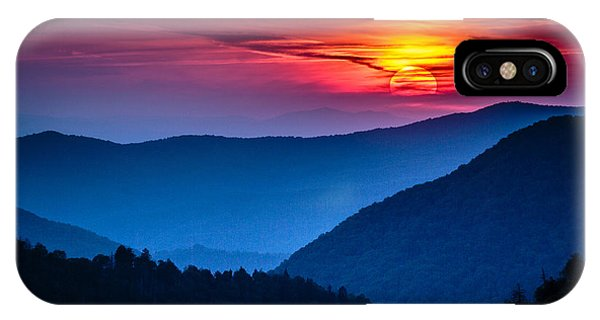 Beautiful Sunrise iPhone X Case - Great Smoky Mountains National Park by Weidman Photography