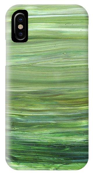 Organic Abstraction iPhone Case - Green Abstract Meditative Brush Strokes I by Irina Sztukowski