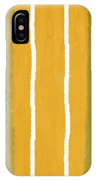 Century iPhone Case - Green And Yellow Abstract Theme II by Naxart Studio