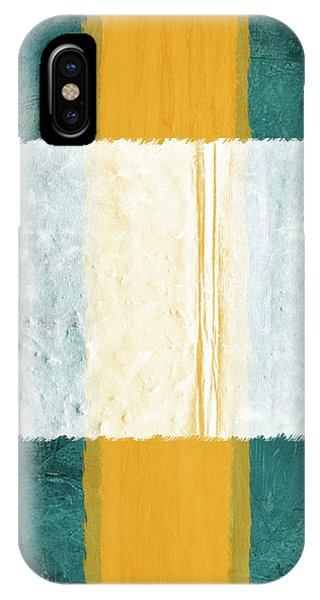 Century iPhone Case - Green And Yellow Abstract Theme IIi by Naxart Studio