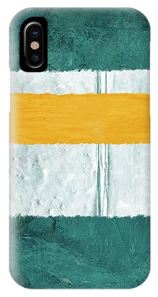 Century iPhone Case - Green And Yellow Abstract Theme Iv by Naxart Studio