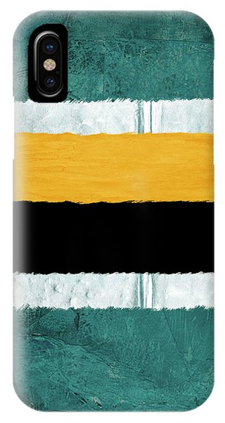 Century iPhone Case - Green And Yellow Abstract Theme V by Naxart Studio