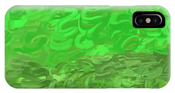 The Art Of Gandy iPhone Case - Green Expansions by Joan Ellen Gandy of The Art Of Gandy