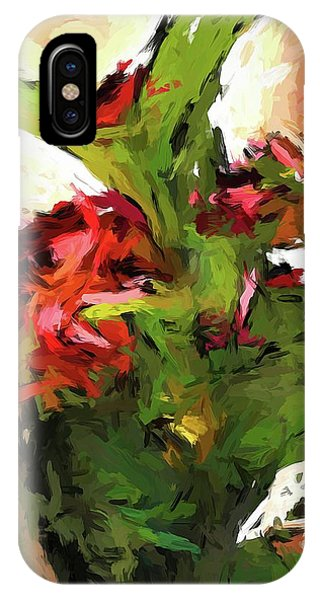 Green Leaves And The Red Flower IPhone Case