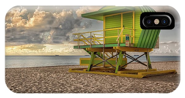 Green Lifeguard Stand IPhone Case
