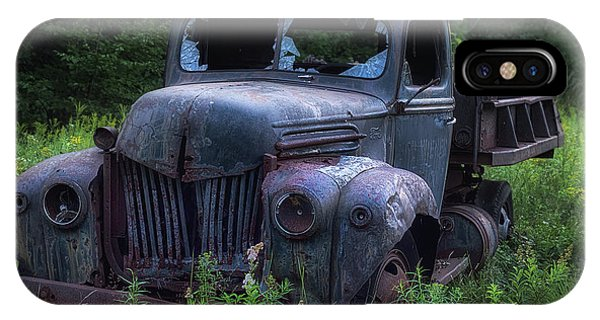 Truck iPhone X Case - Green Mattress by Jerry LoFaro
