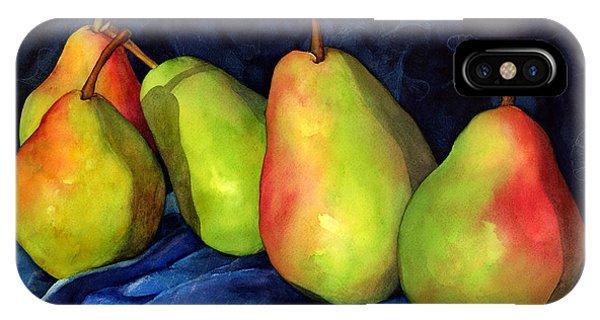 Pear iPhone Case - Green Pears by Hailey E Herrera