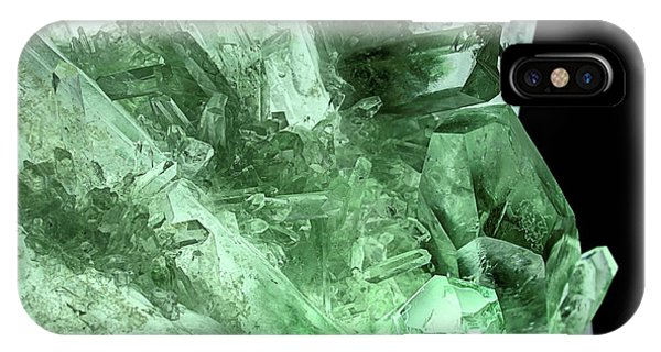 IPhone Case featuring the photograph Green Quartz Crystals by JC Findley