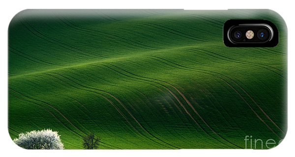 Green Rolling Spring Landscape With Phone Case by Vlad Sokolovsky