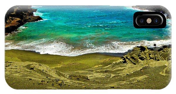 Green Sand Beach IPhone Case