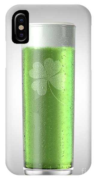 St. Patricks Day iPhone Case - Green Stange Beer Pint by Allan Swart