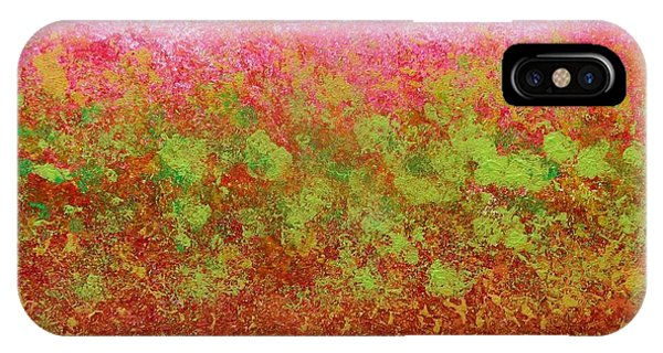 Greenery With Pink - Art By Cori IPhone Case