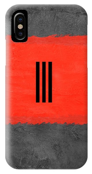 Century iPhone Case - Grey And Red Abstract I by Naxart Studio