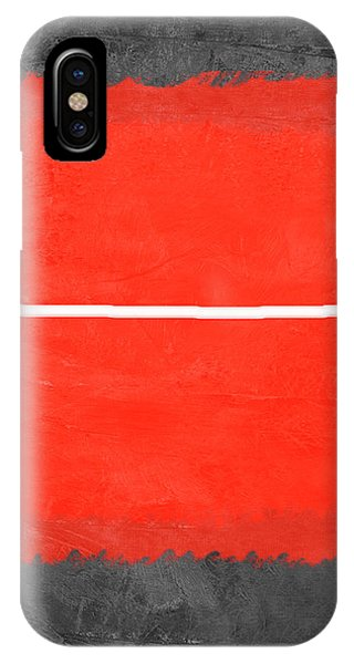Century iPhone Case - Grey And Red Abstract II by Naxart Studio