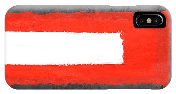 Century iPhone Case - Grey And Red Abstract Vi by Naxart Studio