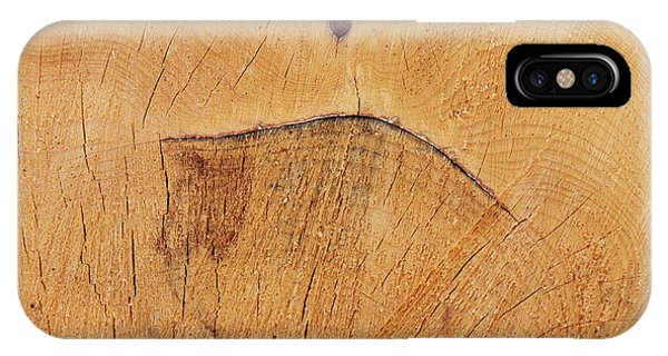iPhone Case - Grimace On The Cut Tree Trunk - Funny Face by Michal Boubin
