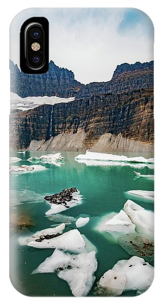 IPhone Case featuring the photograph Grinnell Glacial Lake At Glacier National Park by Lon Dittrick