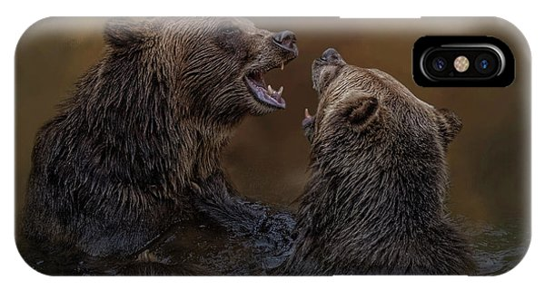 Grizzlies At Play IPhone Case