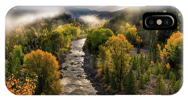 IPhone Case featuring the photograph Gros Ventre River Light by Leland D Howard