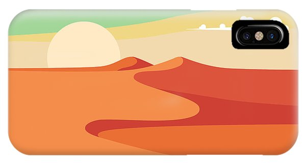 Egyptian iPhone X Case - Group Of People With Camels Caravan by Jennylipets