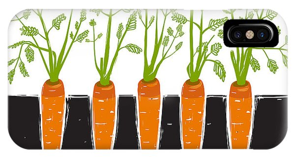 Bed iPhone Case - Growing Carrots Scratchy Drawing And by Popmarleo