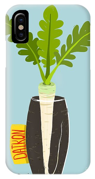 Ingredient iPhone Case - Growing Daikon Radish With Green Leafy by Popmarleo