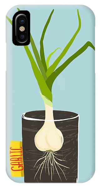 Ingredient iPhone Case - Growing Garlic With Green Leafy Top In by Popmarleo