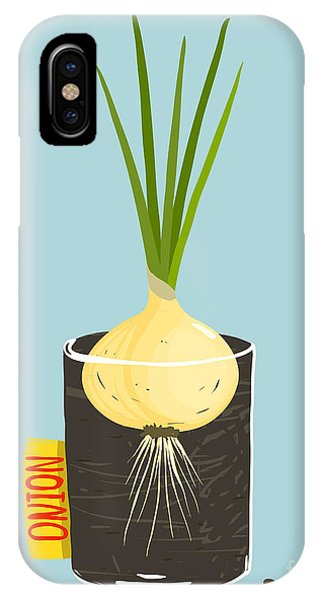 Ingredient iPhone Case - Growing Onion With Green Leafy Top In by Popmarleo