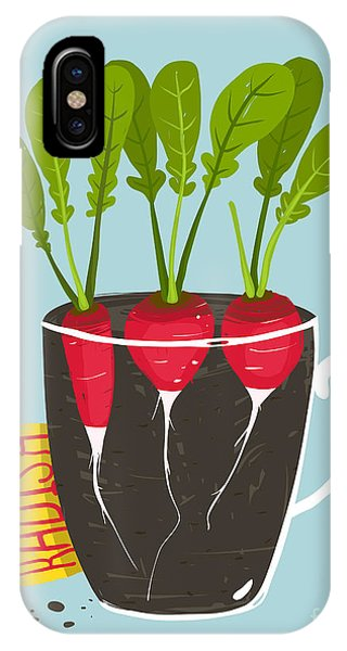 Ingredient iPhone Case - Growing Radish With Green Leafy Top In by Popmarleo
