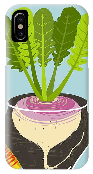 Ingredient iPhone Case - Growing Turnip With Green Leafy Top In by Popmarleo