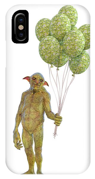 Good Humor iPhone Case - Grumpy Troll Smiling Peace Offering by Betsy Knapp