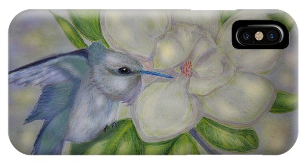 Lavender iPhone Case - Guardian Of The Magnolia by Angela Davies