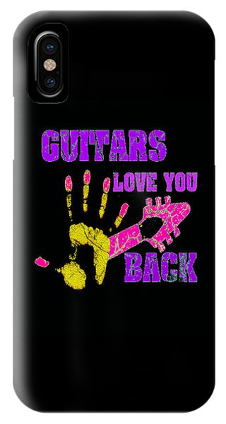 Guitars Love You Back IPhone Case