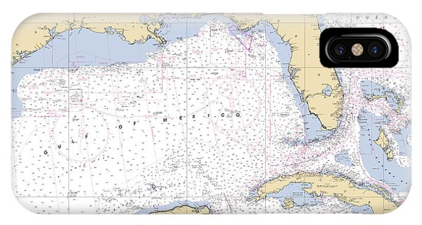 Gulf Of Mexico, Noaa Chart 411 IPhone Case