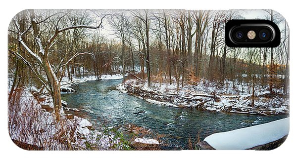 Kingsville iPhone Case - Gunpowder Falls Pano From The Covered Bridge by Brian Wallace