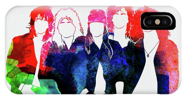 Print iPhone Case - Guns N' Roses Watercolor by Naxart Studio