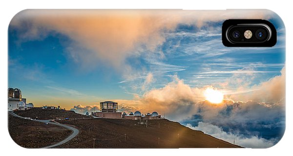 Cloudscape iPhone Case - Haleakala Crater At Sunset, At by Alexander Demyanenko
