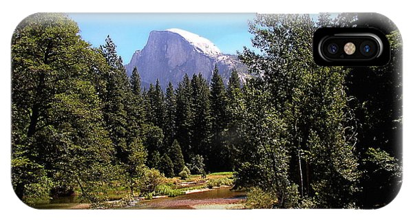 Half Dome From Ahwanee Bridge - Yosemite IPhone Case
