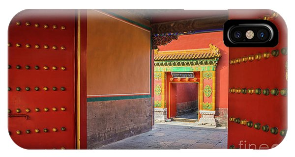 Forbidden City iPhone Case - Hall Of Earthly Tranquility by Inge Johnsson