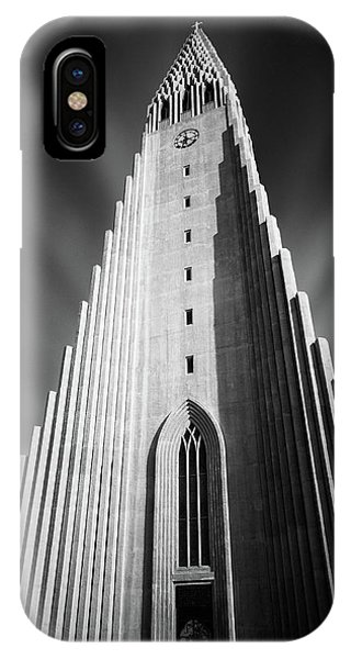 Lutheran iPhone Case - Hallgrimskirkja 1 by Dave Bowman